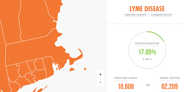 map of lyme disease in dogs in connecticut