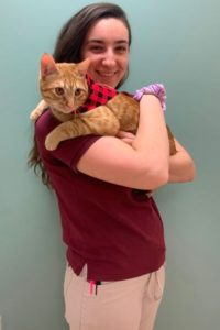 Justine is a veterinary technician at Brookfield Animal Hospital
